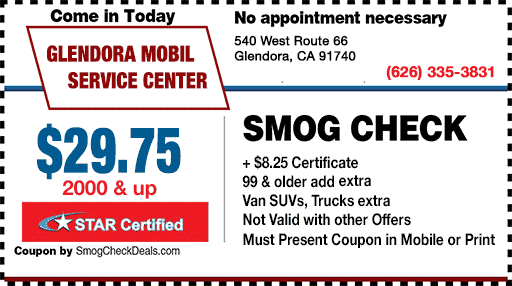 Smog Coupon Glendora